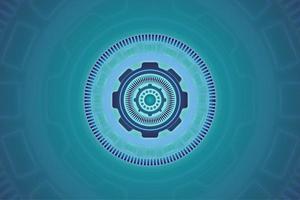 disegno astratto di tecnologia del cerchio blu vettore