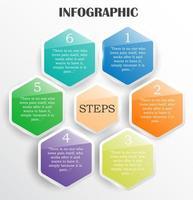 design infografico lucido semplice stile a nido d'ape vettore