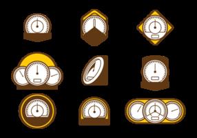 Icone di vettore del tachimetro
