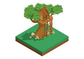 Vettore casa sull'albero