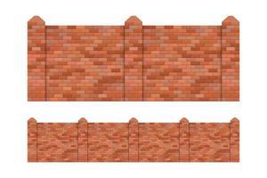 recinto di mattoni impostato isolato vettore