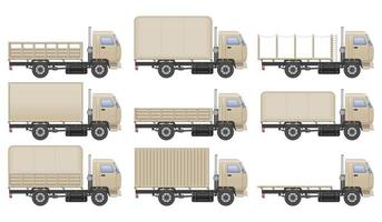 set camion bianco vettore