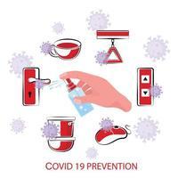 poster di protezione covid-19 o coronavirus