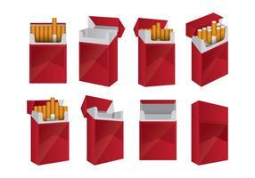 Set di pacchetti di sigarette vettore