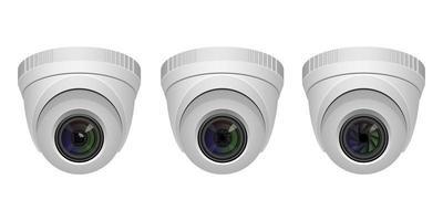 set di telecamere di sorveglianza isolato vettore