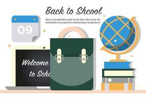 Illustrazione di vettore di ritorno a scuola gratis