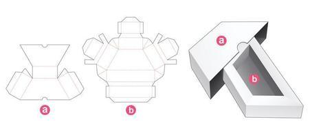 confezione di forma trapezoidale con coperchio vettore
