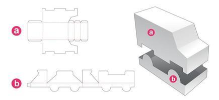 scatola e coperchio a forma di camion