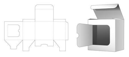 scatola al dettaglio con patta della finestra