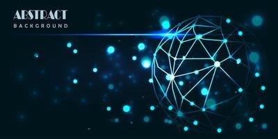 disegno astratto blu incandescente tecnologia digitale mondo vettore