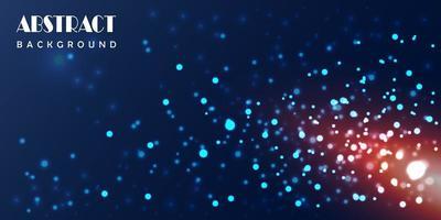 disegno astratto di particelle blu incandescente