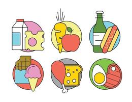 Icone vettoriali gratis cibo