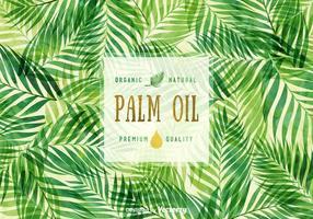 Sfondo vettoriale gratuito di olio di palma