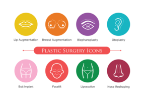 Icone di chirurgia plastica vettore