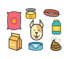 Vettori di icone di cane