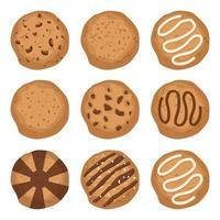 gustosi biscotti isolati vettore