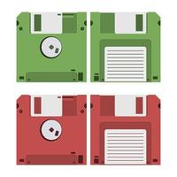 set di floppy disk vettore
