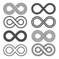 set di icone infinito vettore
