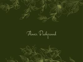 fiori disegnati a mano verde