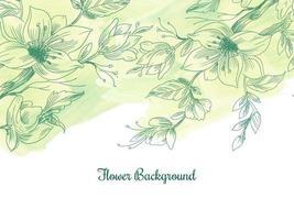 fiori disegnati a mano pastello dell'acquerello decorativo vettore