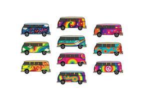 Pacchetto vettoriale Hippie Bus gratuito