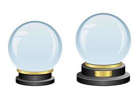 globo di cristallo isolato vettore