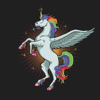 allevamento di unicorno magico vettore