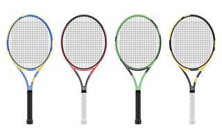 racchetta da tennis isolata vettore