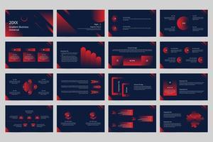 ampio set di modelli di presentazione universali aziendali sfumati. vettore