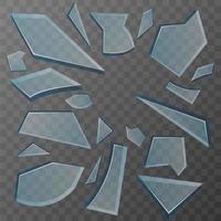frammenti di vetro rotto