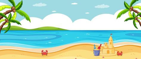 scenario di spiaggia tropicale vuota vettore