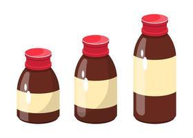 bottiglia di sciroppo di medicina