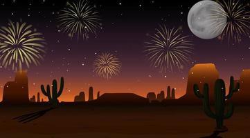 celebrazione fuochi d'artificio sul cielo