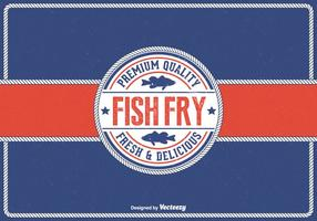 Priorità bassa libera di vettore della frittura del pesce di venerdì dell'annata