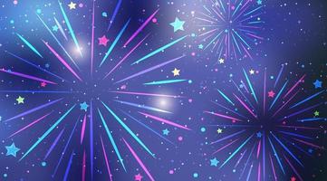 fuochi d'artificio colorati nel cielo