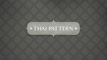 modello tailandese tradizionale astratto