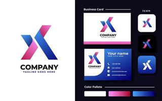 set di branding iniziale x