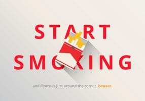 Illustrazione del pacchetto di sigarette vettore