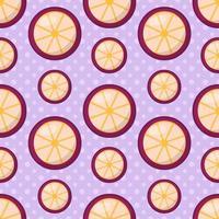 Fondo senza cuciture del modello della frutta del mangostano vettore