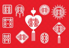 Simbolo di matrimonio cinese vettore