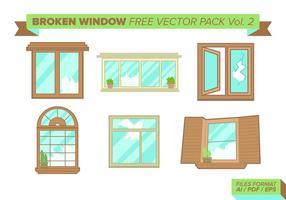 Pacchetto gratuito di finestra rotta vettoriale vol. 2
