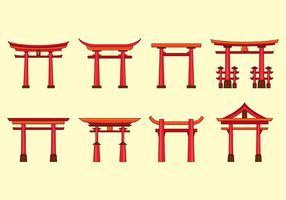 icone vettoriali torii