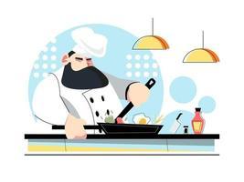 concetto di chef di cucina vettore