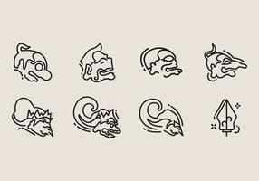 icone di wayang vettore