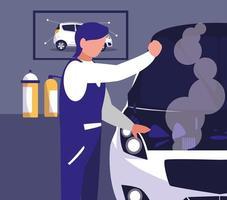 auto in officina di manutenzione