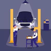 veicolo in officina di manutenzione