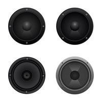 altoparlante audio isolato vettore