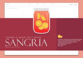 Sangria Modello di pagina web