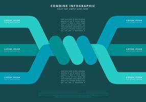 Combinare il modello di Infographic Power vettore