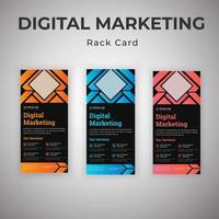 set di carte cremagliera dell'agenzia di consulenza di marketing digitale vettore